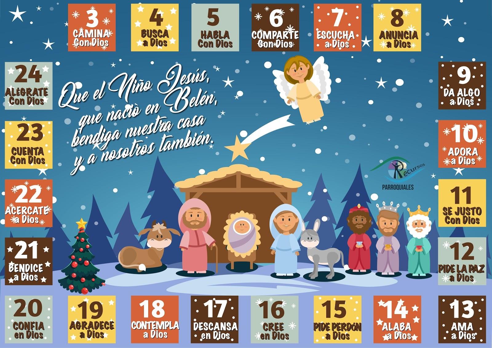 Calendario de adviento delegaci n de catequesis de zaragoza for Calendario adviento 2017