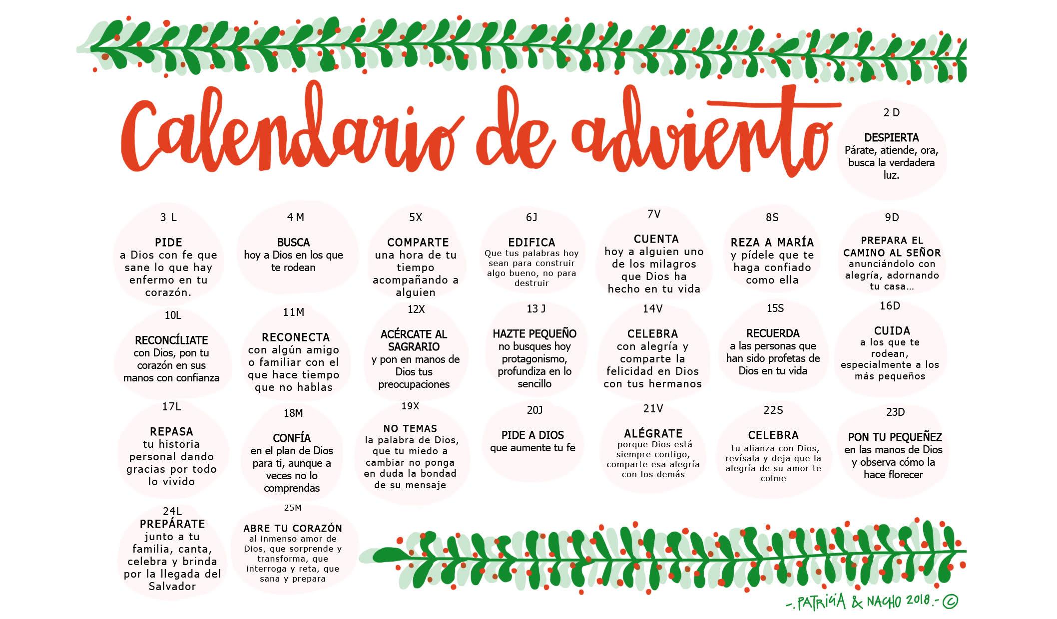 Adviento Calendario.Adviento Delegacion De Catequesis De Zaragoza